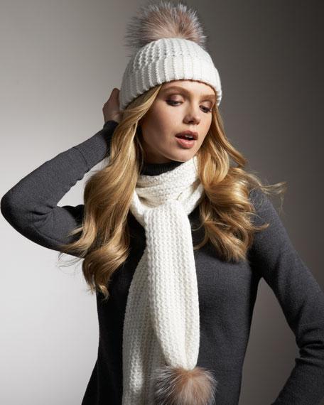 Fur-Pom Cashmere Hat