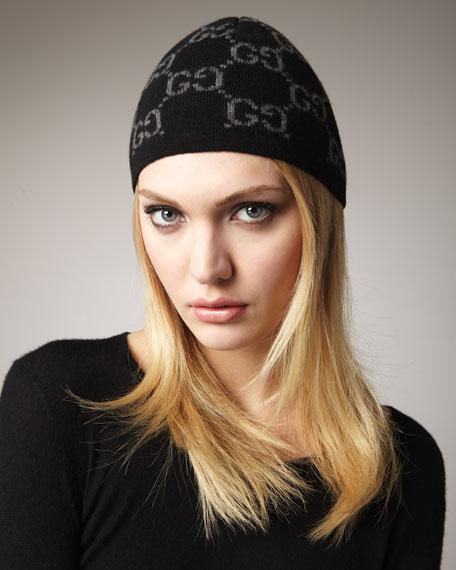 Cashmere Knit Double-G Hat