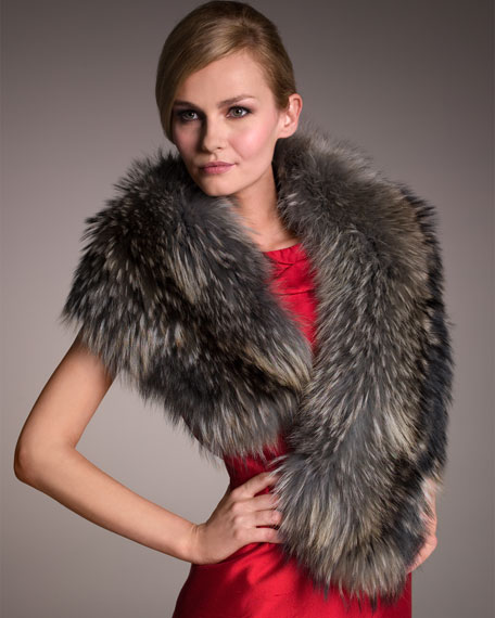 Raccoon Fur Stole