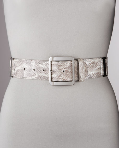 Snakeskin Belt, Navy