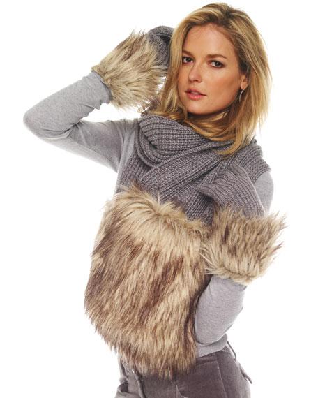 Faux-Fur Gloves