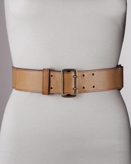 Leather Belt, Camel