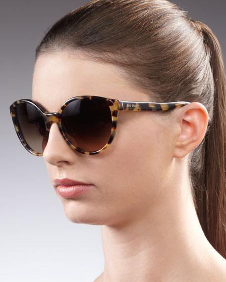 Round Sunglasses, Yellow Havana