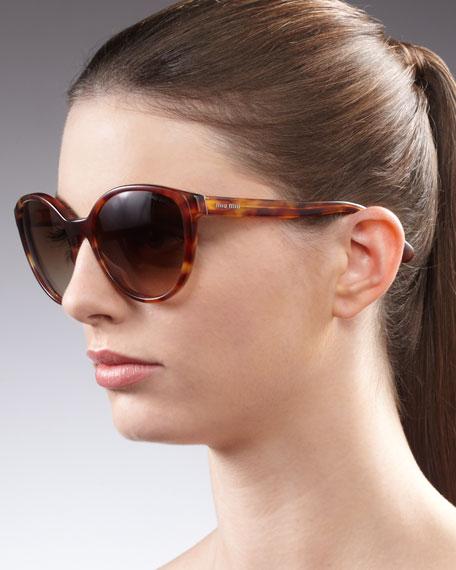 Round Sunglasses, Havana