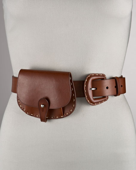 Pouch-Detailed Belt
