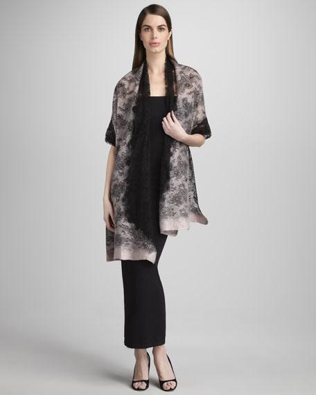 Lace-Overlay Shawl