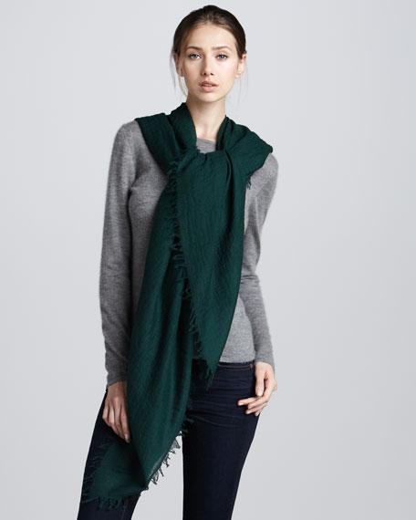 Ultra Lightweight Cashmere Scarf, Emerald