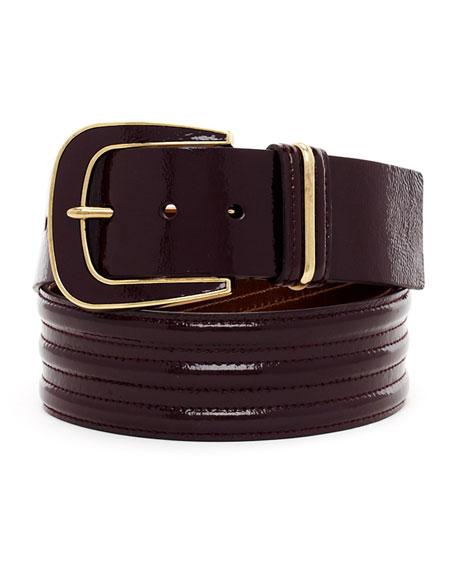 Trapunto-Stitch Belt