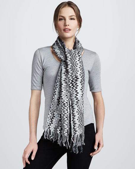 Zigzag Scarf, Gray