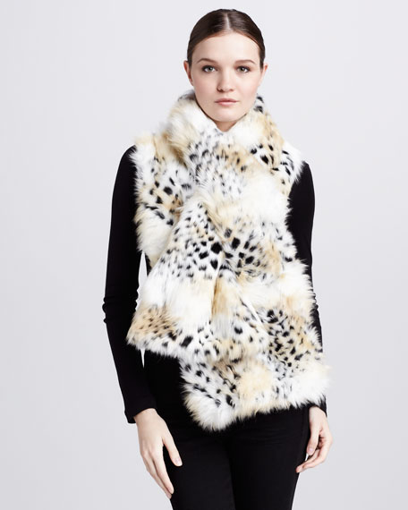 Faux-Fur Oversized Pull-Through Scarf