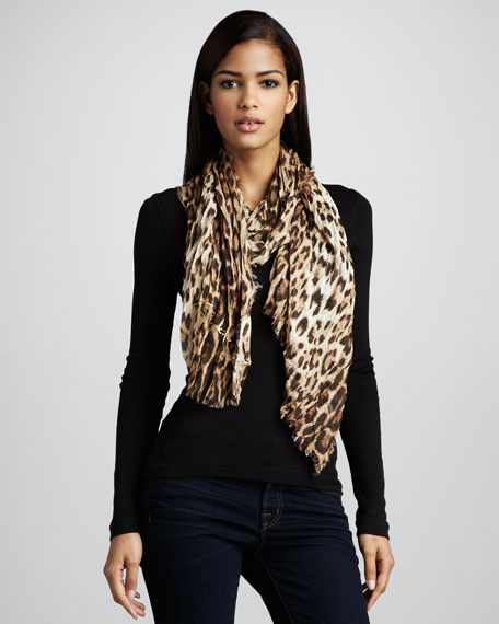 Leopard-Print Stole