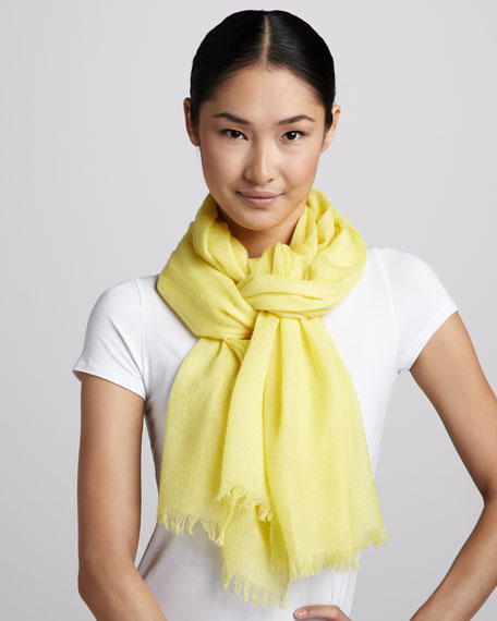 Ultra Lightweight Cashmere Stole, Lemon