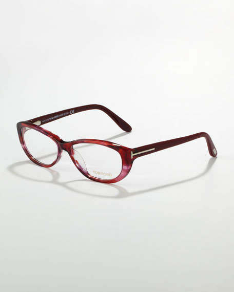Soft Rounded Fashion Glasses, Red/Violet