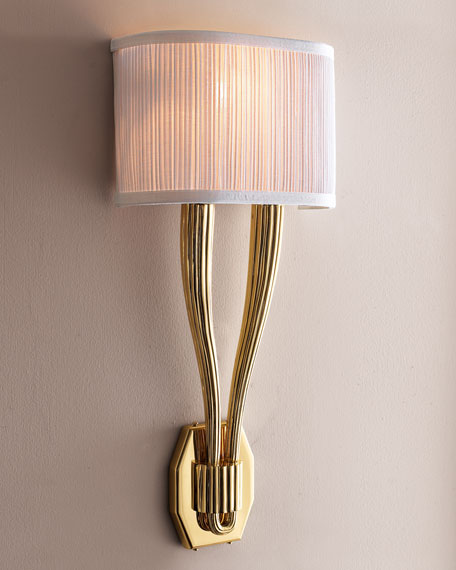 Polished Brass Sconce
