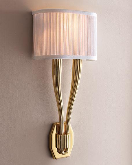 Polished Brass Sconce