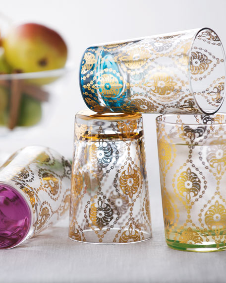 "Four ""Moroccan"" Tea Glasses"