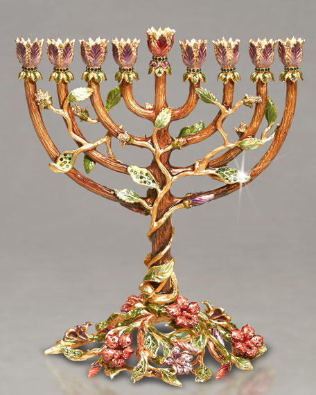"""Tema"" Flowering Vine Menorah"