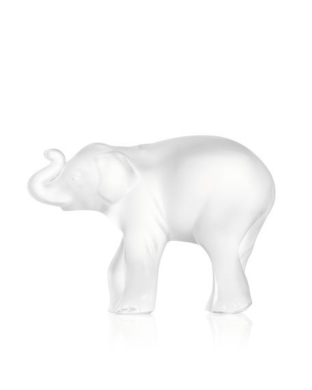 Lalique Elephant Figurine, Trunk Up