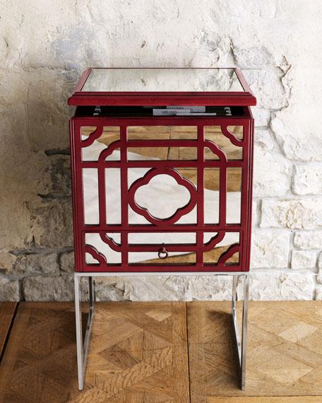 Red Fretwork File Box