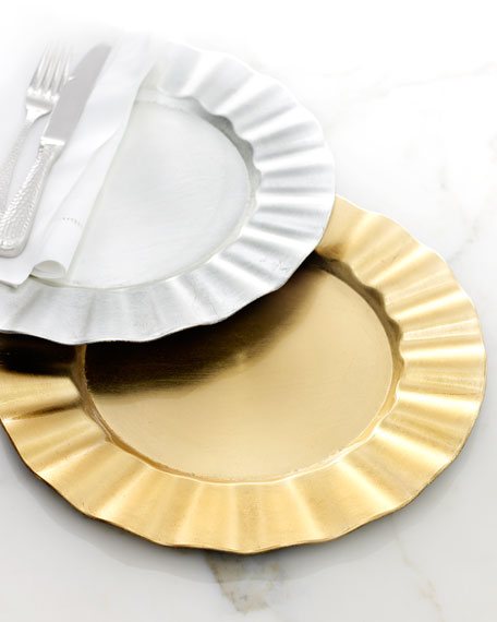 Ruffled Charger Plates