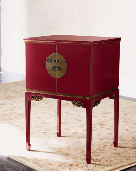 Red Laquer File Box