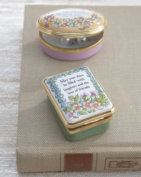 """""""May Your Days Be Filled"""" Enameled Box"""