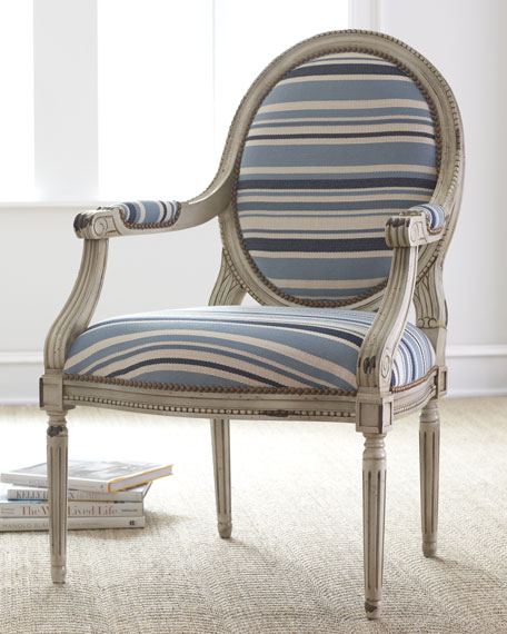 """Marina"" Striped Chair"