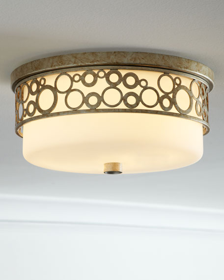 Opal Glass Flush-Mount Ceiling Fixture