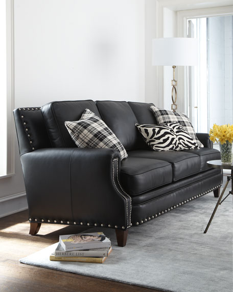 """Brockton"" Leather Sofa"