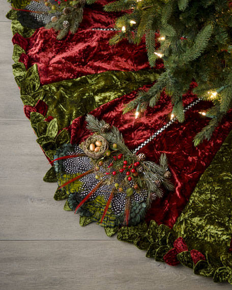 """Woodland"" Christmas Tree Skirt"