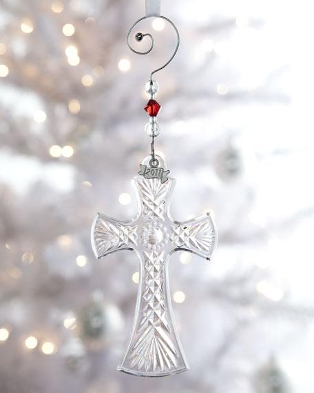 Crystal Cross Ornament