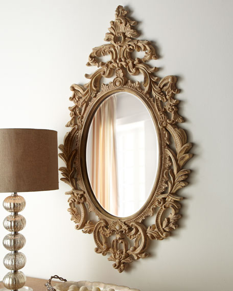 """Oval """"French"""" Mirror"""