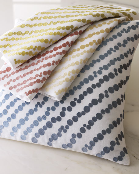 """Diagonally-Embroidered Meredith Pillow, 18""""Sq."""