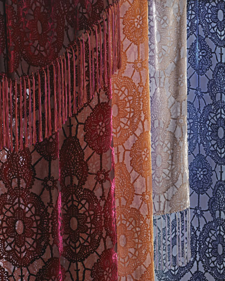 """Lace-Pattern Throw, 52"""" x 74"""""""