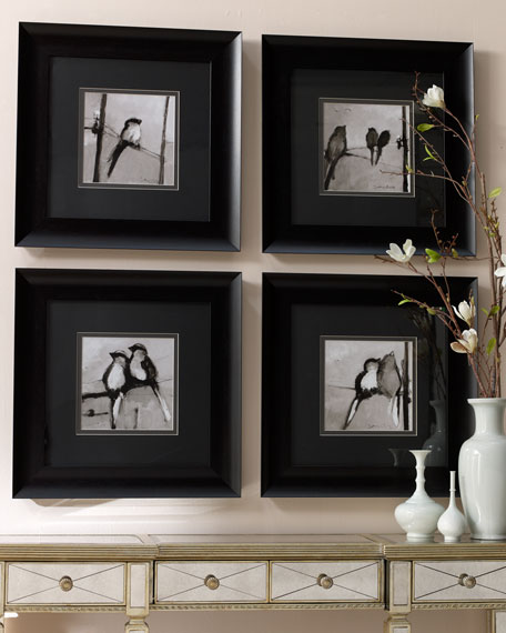 Four Framed Bird Sketches
