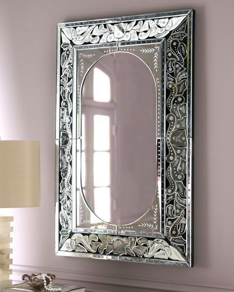 Etched Venetian Mirror