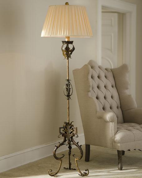 """""""Golden Acanthus"""" Floor Lamp"""