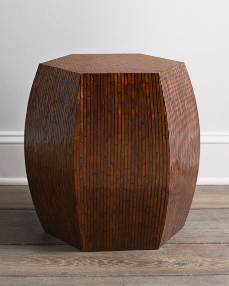 Brown Mother-of-Pearl Garden Seat