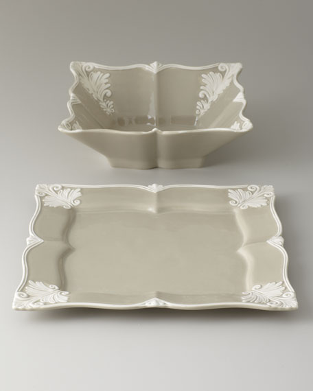 SQUARE BAROQUE SERVE BOWL