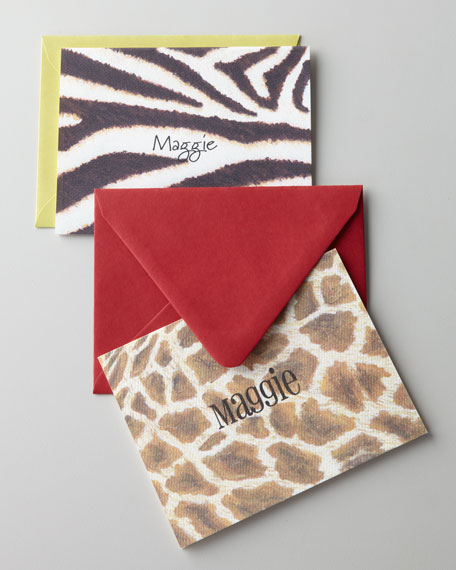 KELLY KAY Zebra & Giraffe Folded Notes