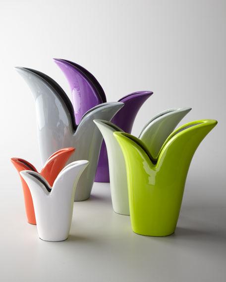 Six Multicolor Tulip Vases