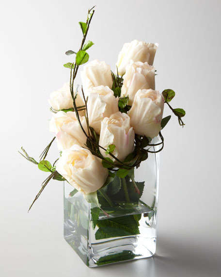 """The Perfect Rose"" Faux Floral Arrangement"