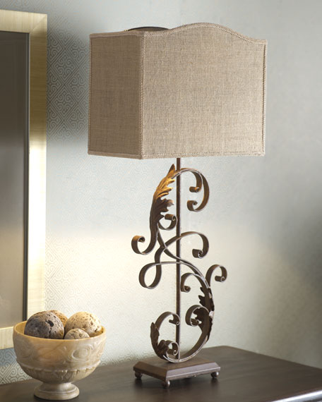 """Iron Scroll"" Buffet Lamp"