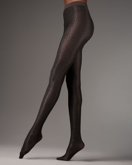 Crocodile Lacquer Tights