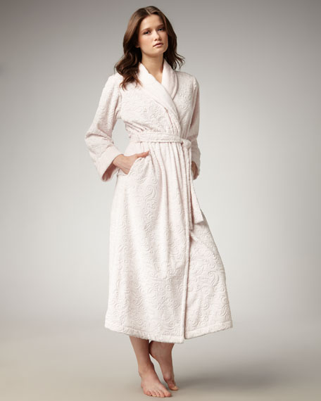 Plush Velour Scrollwork Robe