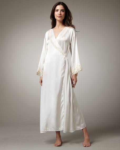 Maison Long Satin Robe
