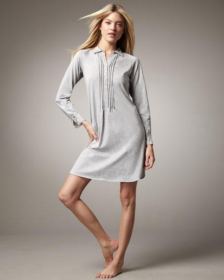 Dolce Long-Sleeve Shirtwaist Gown