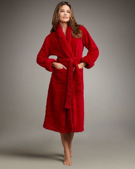Medallion Plush Velour Robe