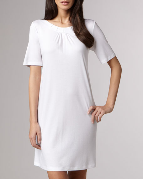 Jasmine Mercerized Sleepshirt, White