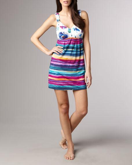 Violet Striped Babydoll Dress